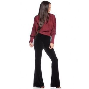 NWT BlankNYC Waverly High-Rise Velour Flare Pant